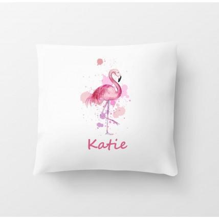 Flamingo Name Cushion