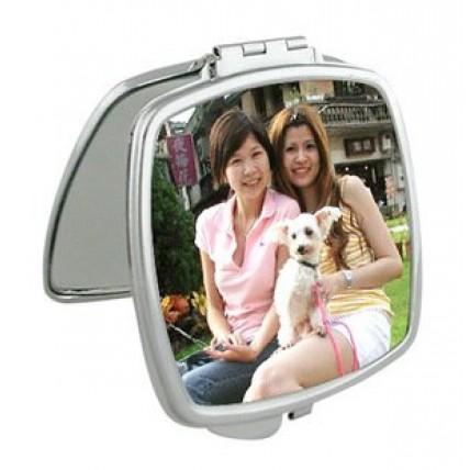 Compact Square Mirror